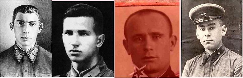 Николай Гастелло, Анатолий Бурденюк, Григорий Скоробогатый, Алексей Калинин (слева направо).